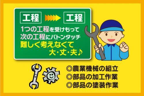農業機械の組立や部品の加工作業など、派遣の仕事|松山市堀江町