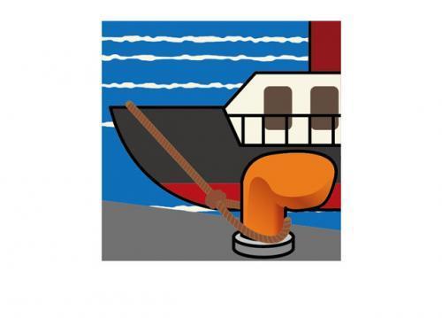 船の入出港時に船を固定する作業などをします