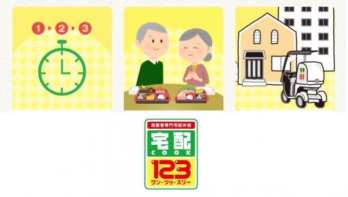 地域の安心を支える宅配弁当、それが『宅配クック123』です!