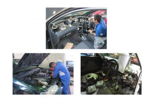 ナビやETCなどの電機系統の修理から車検整備・一般整備まで幅広い修理をしています。