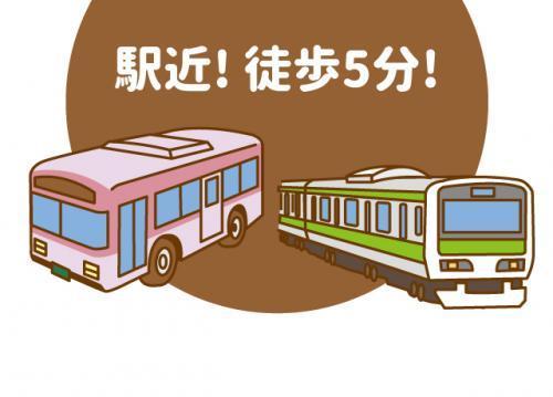 松山市駅から徒歩5分程度の通勤しやすい立地!
