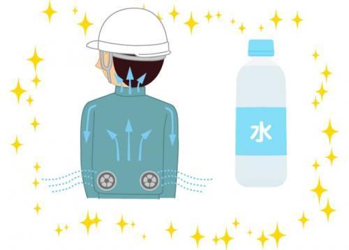 暑さ対策バッチリ!<現場に冷蔵庫設置でこまめに水分補給&空調服支給>