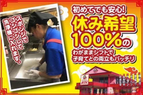飲食店での調理補助兼洗い場、バイト・パートのお仕事