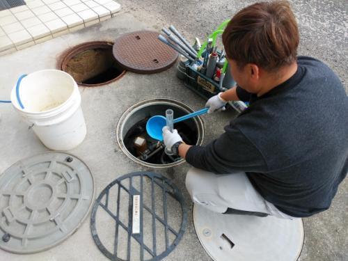 浄化槽の管理や水質検査・工事補助、社員のお仕事