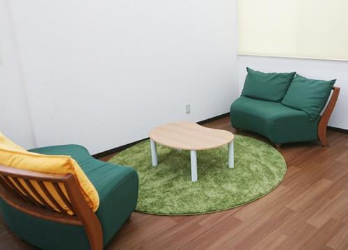 きれいな休憩室完備。