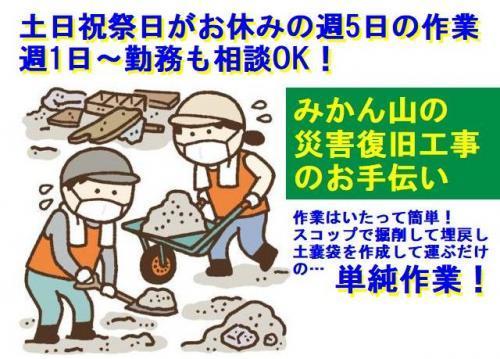 みかん山の「災害復旧工事」のお手伝い!!